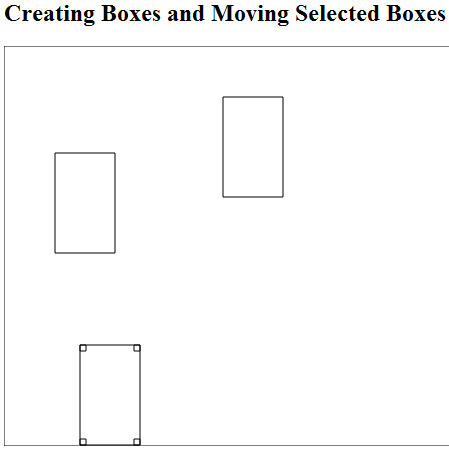 Alt Figure 02-03.02: Selected box with selection rectangles