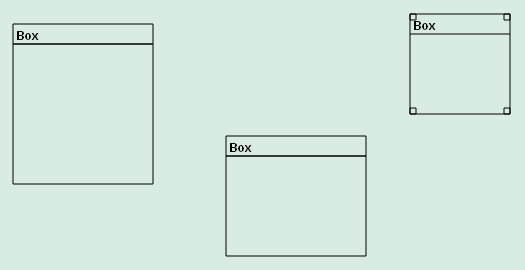 Alt Figure 08-09.03: Boxes with different sizes